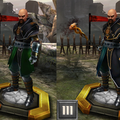 Tier evolution of a Tevinter Slaver from <i>Heroes of Dragon Age</i>
