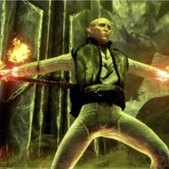 Solas preparing a spell