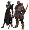 Qunari female and male.jpg