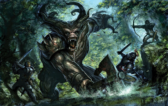 File:Dragon Age Ogre Fight by tycarey.jpg