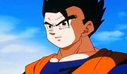 Gohan watching goten and trunks fuse