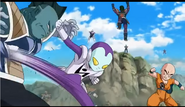 Jaco kicks a Fishman Frieza Soldier in the stomach, Resurrection 'F', IsraeliteVIP pic snap