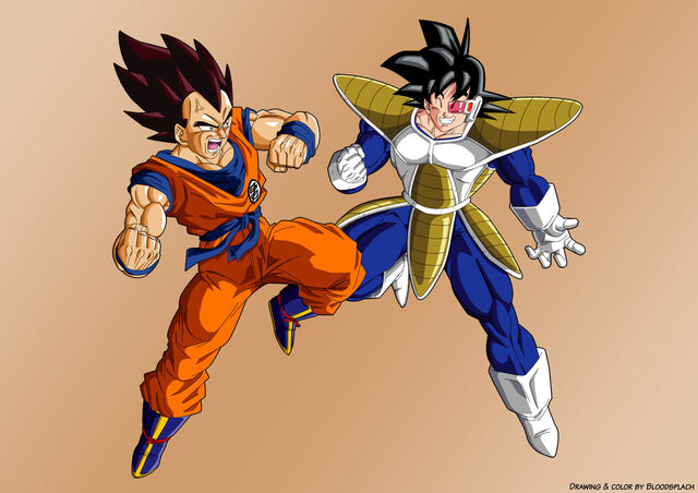 File:Vegata and Goku wearing each other clothes.jpg