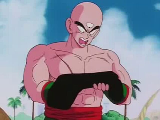 File:Tien Lifting Goku's Weighted T-Shirt.JPG