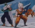 Goku piccolo about to be attacked by monsters