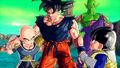 Goku and Piccolo and Krillin and Kid Gohan