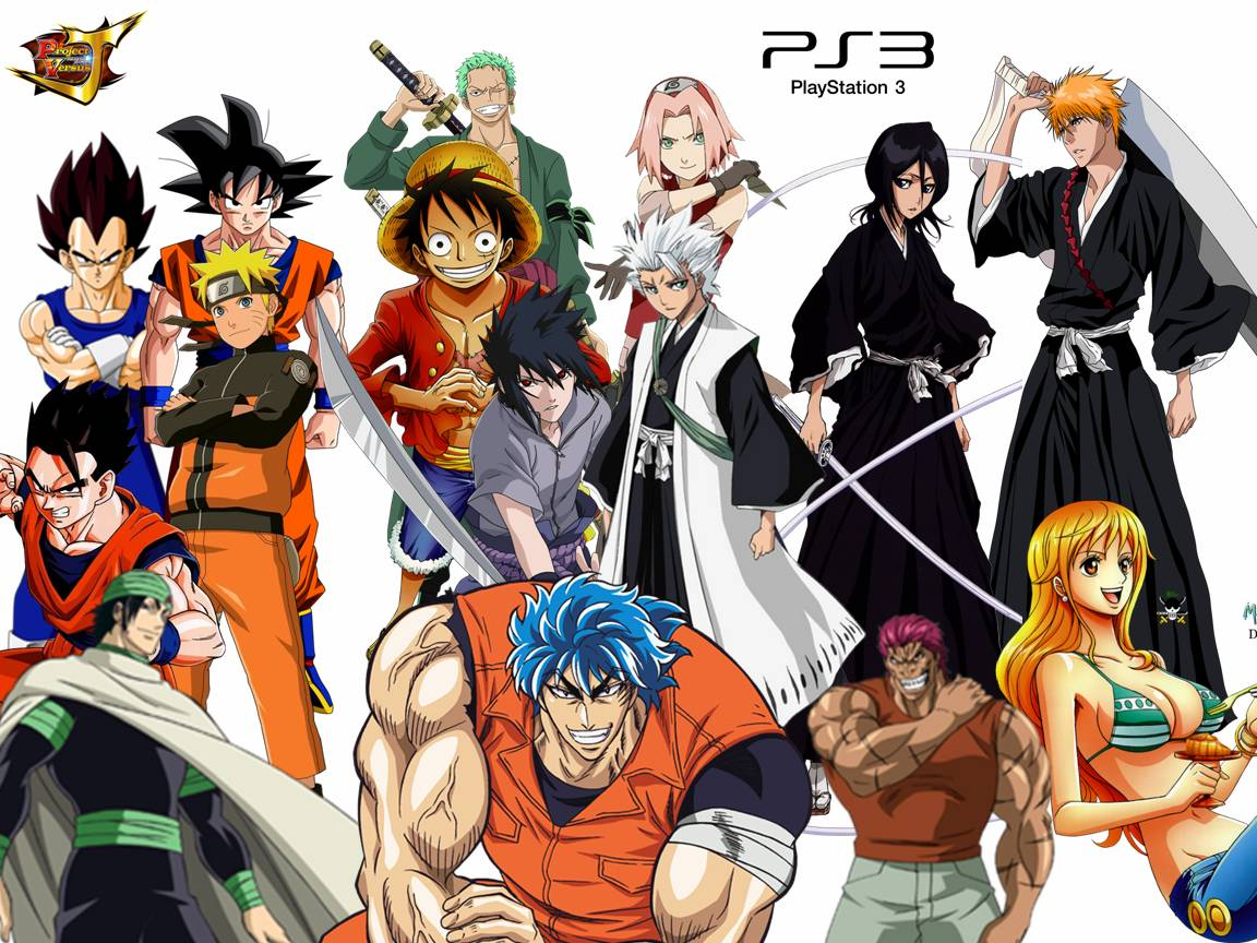 Image project versus j j stars victory naruto bleach toriko one piece dragon ball - Dbz one piece ...