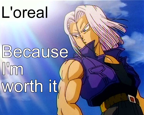 File:Mirai Trunks L oreal Advert by dbz.png