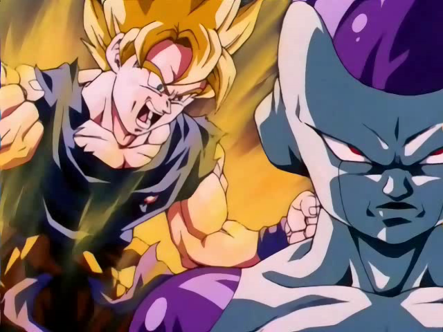 Dragon Ball z Goku vs Frieza Super Saiyan Super Saiyan Goku vs Frieza