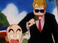 Krillin and the interviewer surprised