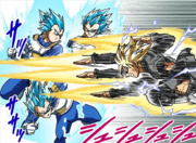 Vegeta Blue vs Black and Gold