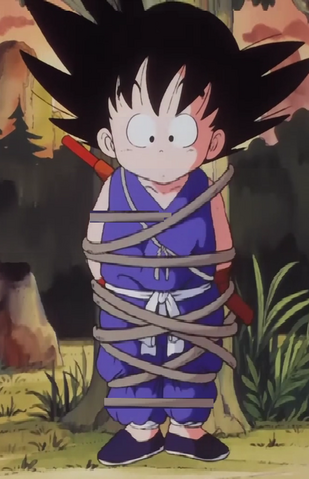 File:Kid goku tied up in rope.png
