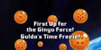 First Up for the Ginyu Force! Guldo's Time Freeze!