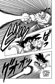 Mercenary Tao fires a Dondon Ray at Goku