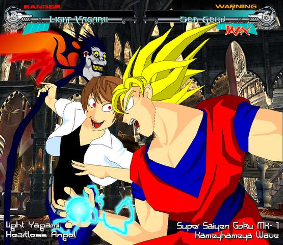 File:Goku VS Kira by Tyrranux.png
