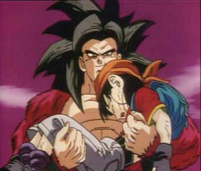 File:SSJ4 Goku saving Pan(gohan and videls daughter in DB TAL.jpg