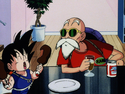 Roshi and Goku in SleepingPrincess