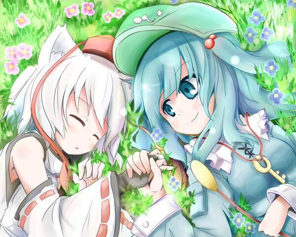File:Touhou - Momiji & Nitori.jpg