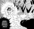 Goku in great pain from Jackie Chun's Bankoku Bikkuri Shō