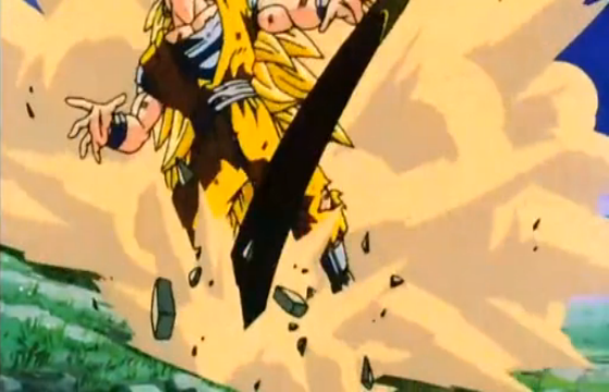 File:Vegeta's Respect - Goku kicked by Kid Buu.PNG