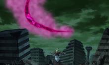 Future Zamasu boasts to Goku of the power they have.