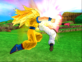 BT3Goku duels Kid Buu