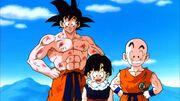 Goku, Krillin, and Gohan (Lord Slug)