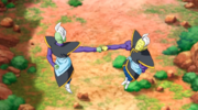 Zamasu and Gowasu travel to the past