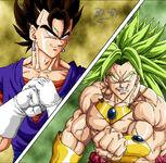 Dragon Ball Multiverse(Vegito) Vs Broly(Legendary Super Saiyan)