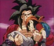 Goku holding pan