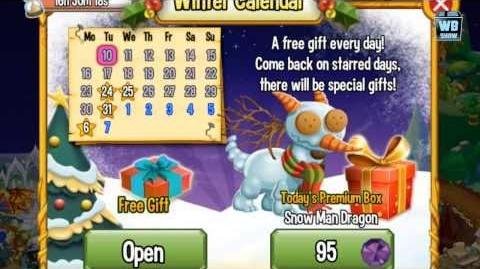 Dragon City News- Christmas Update Revealed! Snowman Dragon!
