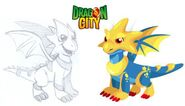 What star dragon looked before it was made.