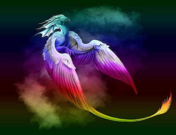 Rainbow Dragon | Drago...