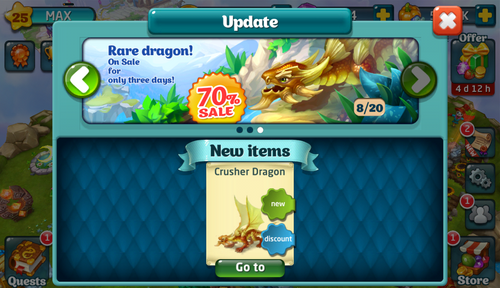 Crusher Dragon Update