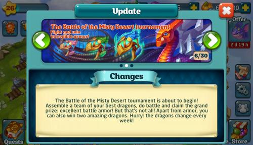 Tournament LXV Update