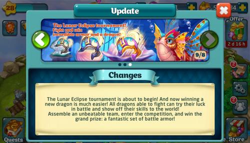 Tournament LXXV Update