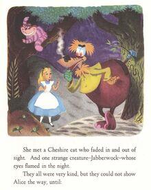 Disney Alice in wonderland jabberwock