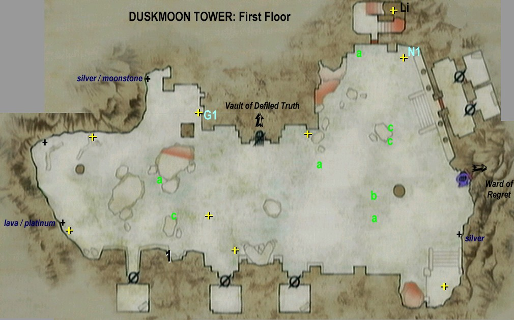 Image 04 duskmoon tower 1st dragon 39 s dogma for Floor 5 boss map