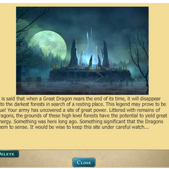 Receive this message about the spectral outpost randomly within forest levels 7+