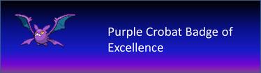 Purple Crobat Badge of Excellence
