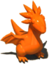 OrangeDragonFigurine
