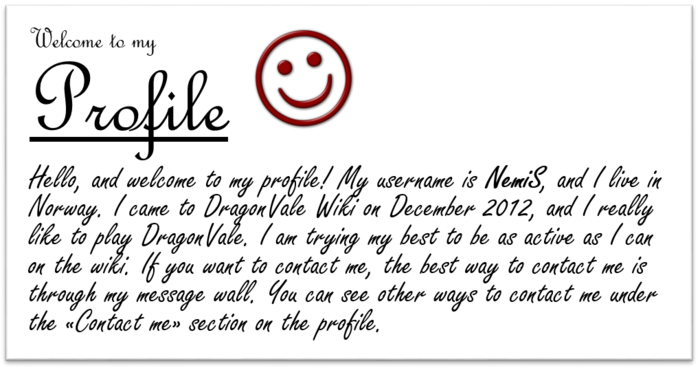 ProfileWelcome NemiS