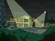 The Drawn Together House under confinement