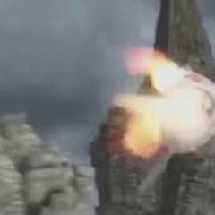 The Screaming Death shoots out a fireball.