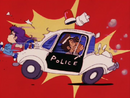 Arale Running Through Police