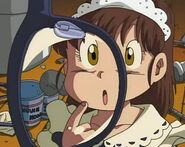 Arale finding out about glasses