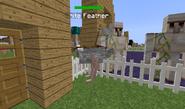 Geared albino ostrich