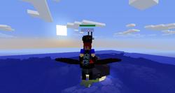 Player riding dark pegasus