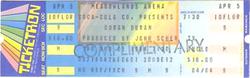 Meadowlands arena duran duran APRIL 5, 1984 East Rutherford, NJ, USA ticket