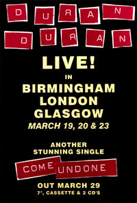 Hamburg birmingham uk live tour dates poster duran duran discogs wikipedia